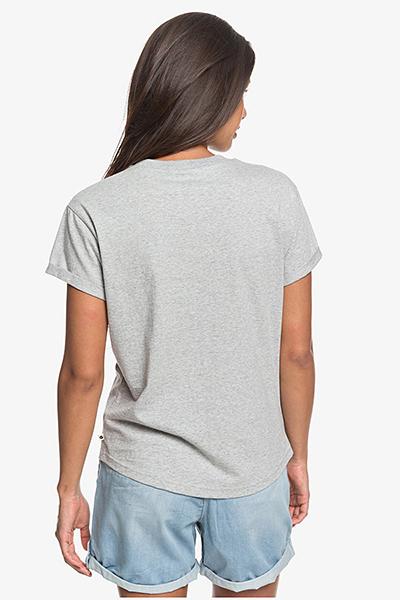 Футболка женская Roxy Epic Af Logo J Tees Sgrh Heritage Heather