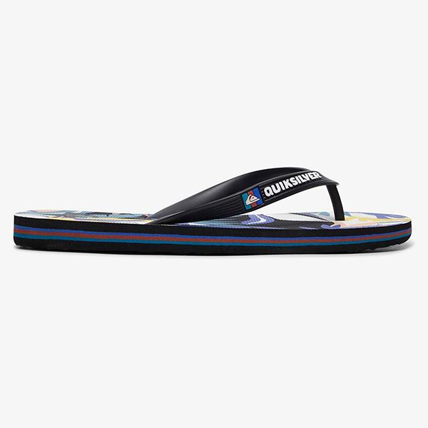 Вьетнамки QUIKSILVER Molo Tropical Black/White/Blue20-134