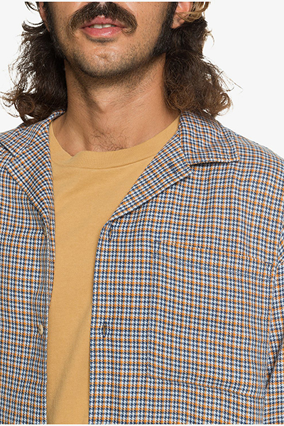 Рубашка QUIKSILVER Ogcampcheckls Wvtp Bde1 Zen Blue Mini Check-177