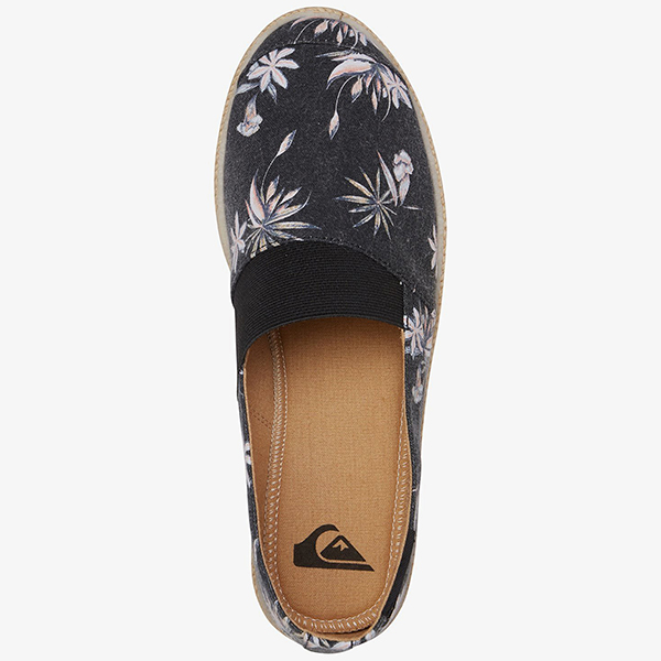 Лоферы QUIKSILVER Espadrilled Shoe Xkwk Black/White/Black36-183