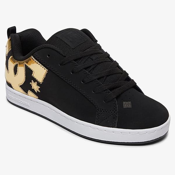 Купить кеды низкие детские DC Shoes Court Graffik Black/Gold (300678-BG3) в интернет-магазине Proskater.ru