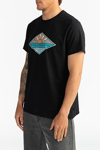 Футболка Billabong (фуфайка) A Frame Tee Ss Black