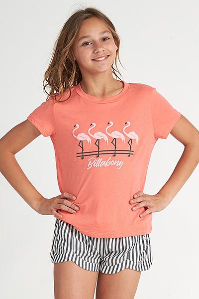 женская Billabong Футболка (фуфайка) Flamingos In Pink Sunkissed Coral