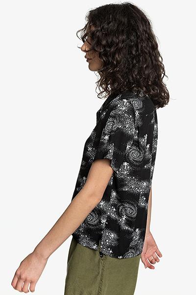 Блузка женская QUIKSILVER Campherringbone W Wvtp Kvj6 Black Cosmic Rip