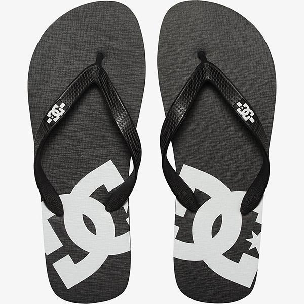 Вьетнамки DC Shoes Spray Black/Black/White4