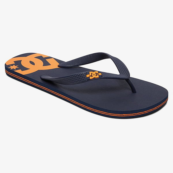 Вьетнамки DC Shoes Spray Navy/ Orange