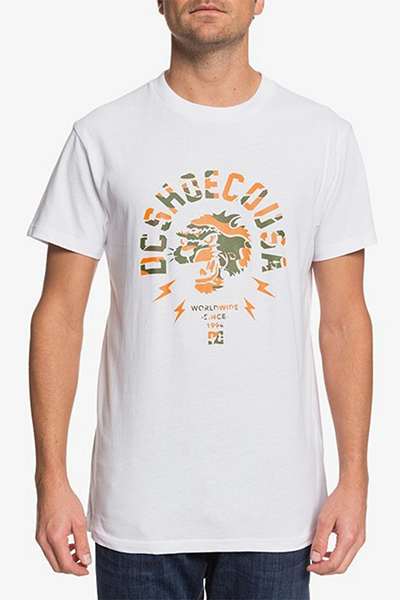 Футболка DC Shoes Worldwide Usa M Tees Wbb0 White