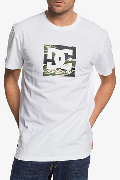 Футболка DC Shoes Футболка Square Starss2 M Tees Snow White/Camo
