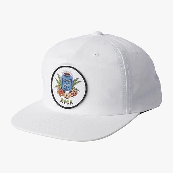 Бейсболка Rvca Dm Tiki Snapback White