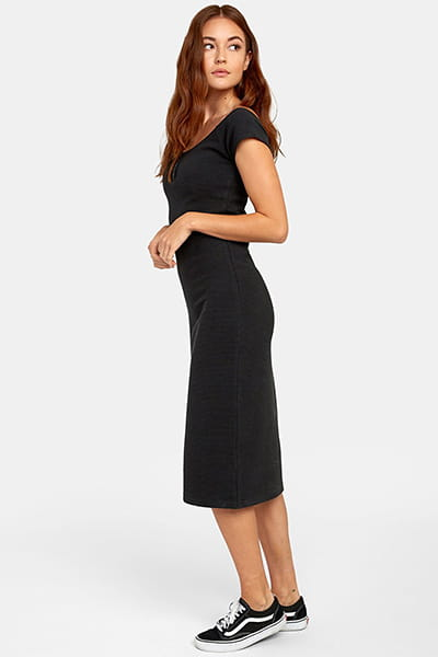 Платье женское Rvca Stripped Down Dress Black