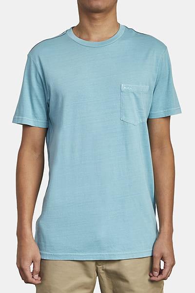 Футболка Rvca Ptc 2 Pigment Bermuda Blue