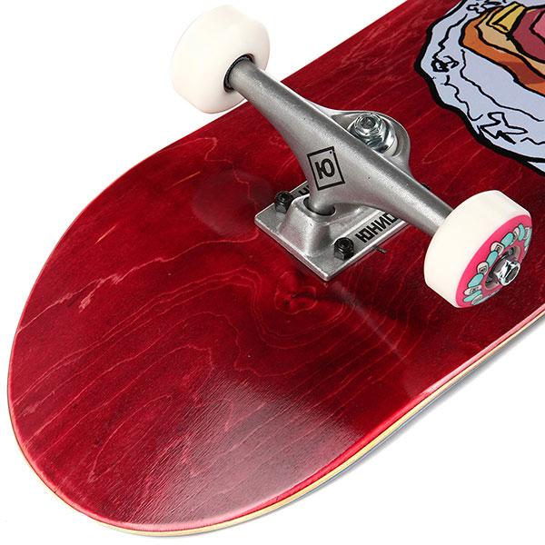 Скейтборд в сборе Юнион Скейт Home Combo красный 8,0x31,625