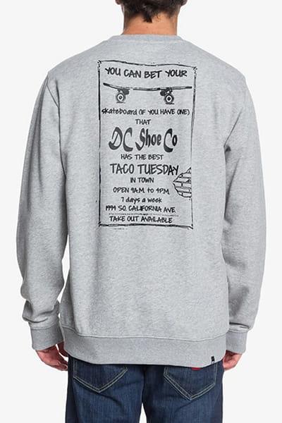 Свитшот DC Shoes Taco Tuesday Grey Heather