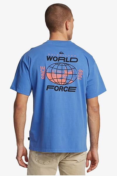 Футболка QUIKSILVER Globalgroovess Dazzling Blue