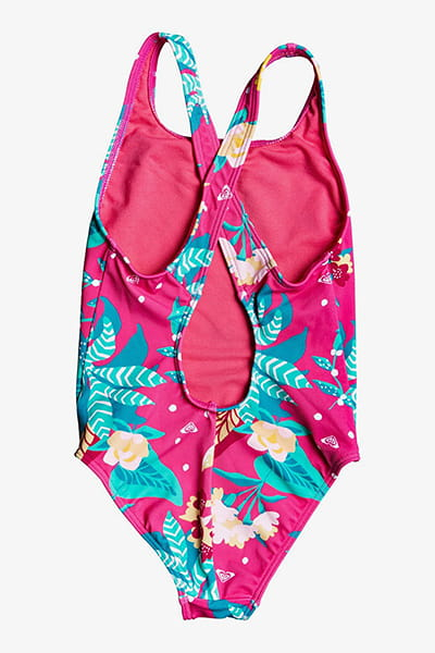 Купальник детский Roxy Sea On Pce K Mlb6 Pink Flambe Sunnypla
