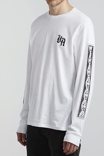 Лонгслив Rvca Croco Ls White