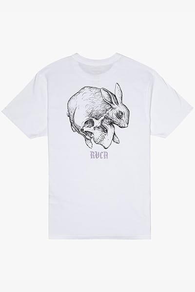 Футболка Rvca Skull Rabbit Ss White