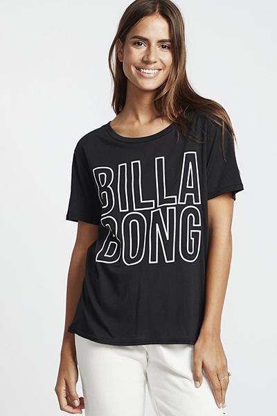 Футболка женская Billabong Legacy Boyfriend Black