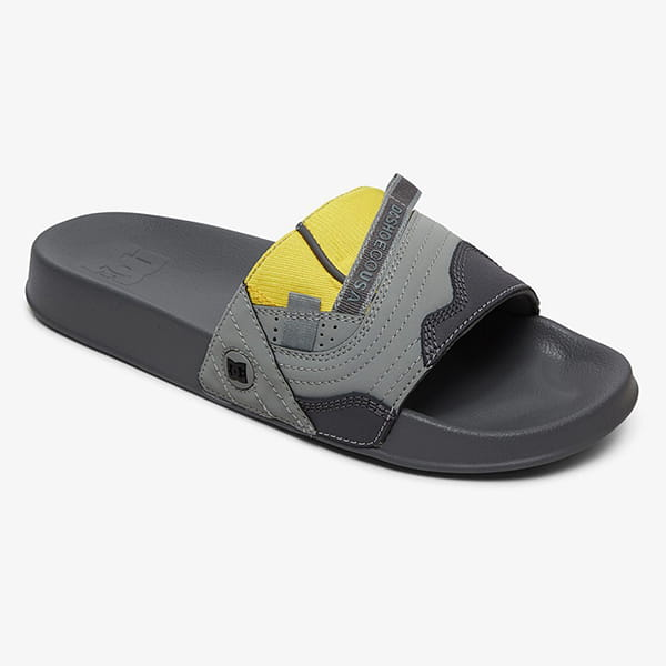 Шлепанцы DC Shoes Williams Slide M Sndl Gy1 Grey Yellow