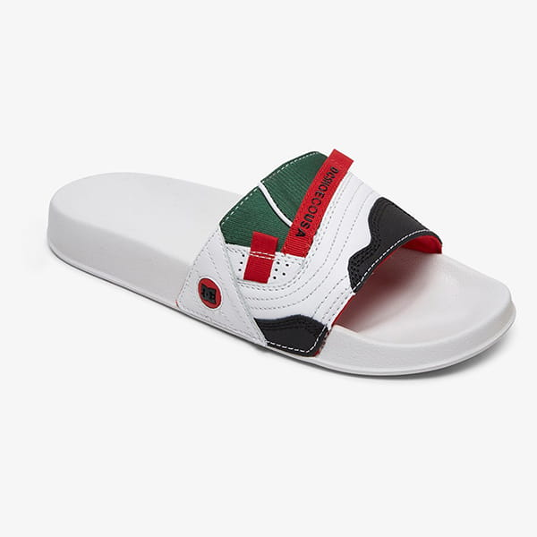 Шлепанцы DC Shoes Williams Slide M Sndl Wrd White Red