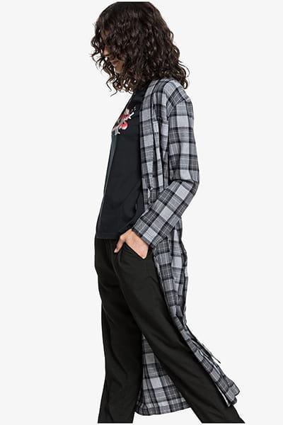 Платье женское QUIKSILVER Extra Long Shir Black Check Shade