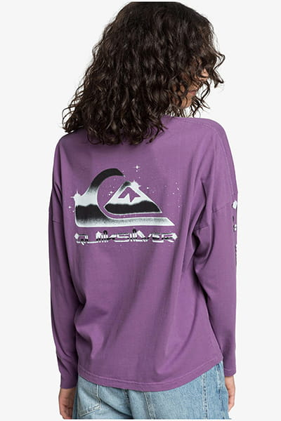 Лонгслив женский QUIKSILVER Boxyteels Crushed Grape
