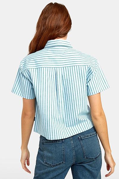Блузка женская Rvca Jefferson Green Stripe