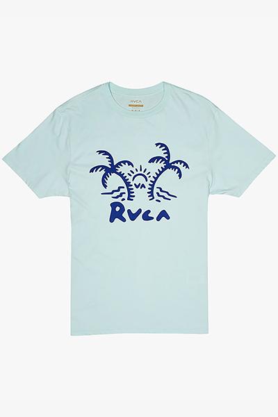 Футболка мужская  Rvca Palmer Ss Dusty Aqua