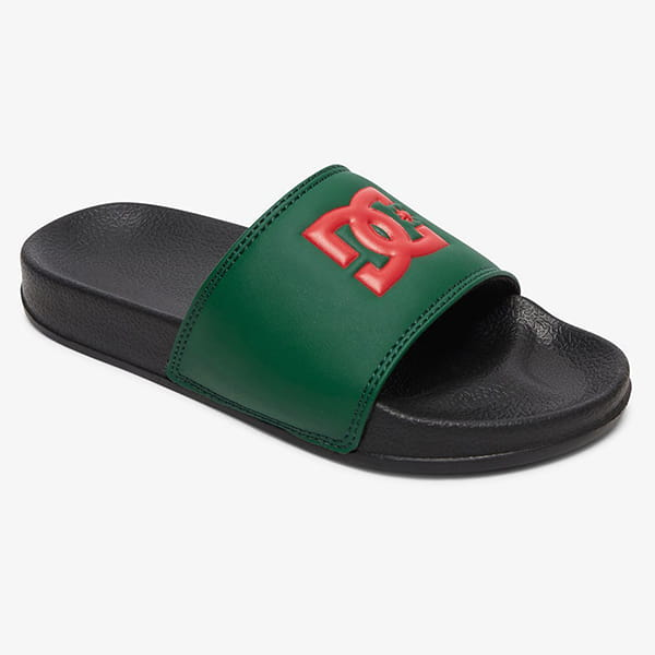 Шлепанцы детские DC Shoes Dc Slide B Green/Black
