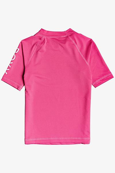 Гидрофутболка детская Roxy Wholehearted Ss K Mlb0 Pink Flambe-104