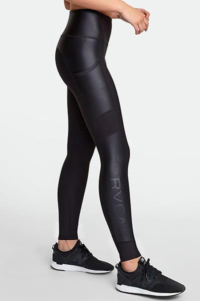 Леггинсы женские Rvca Matte Shine Legging Black