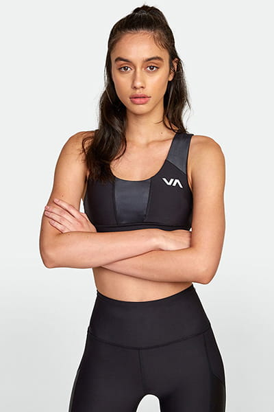 Спортивный топ женский Rvca Matte Shine Bra Black
