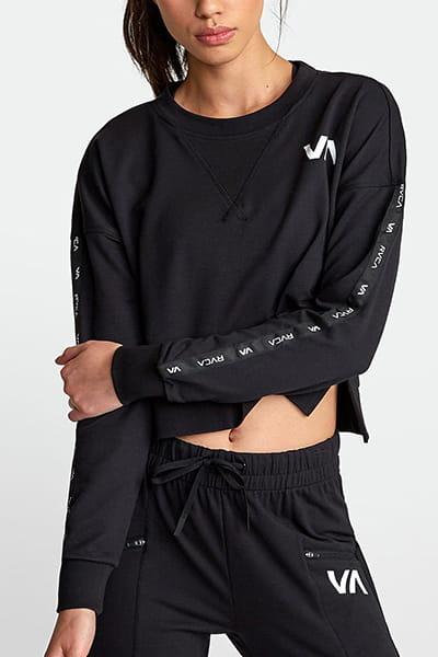 Джемпер женский Rvca Classic Fleece Ls Black