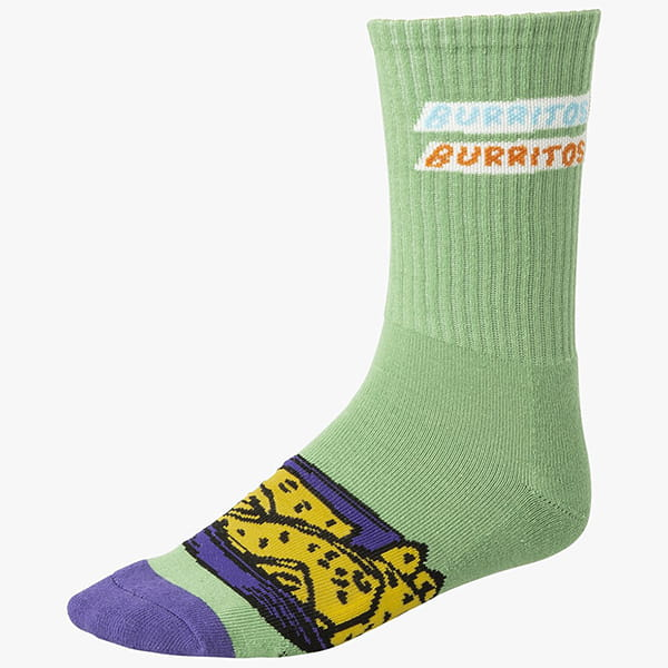 Носки Rvca Hot Fudge Crew Sock Green