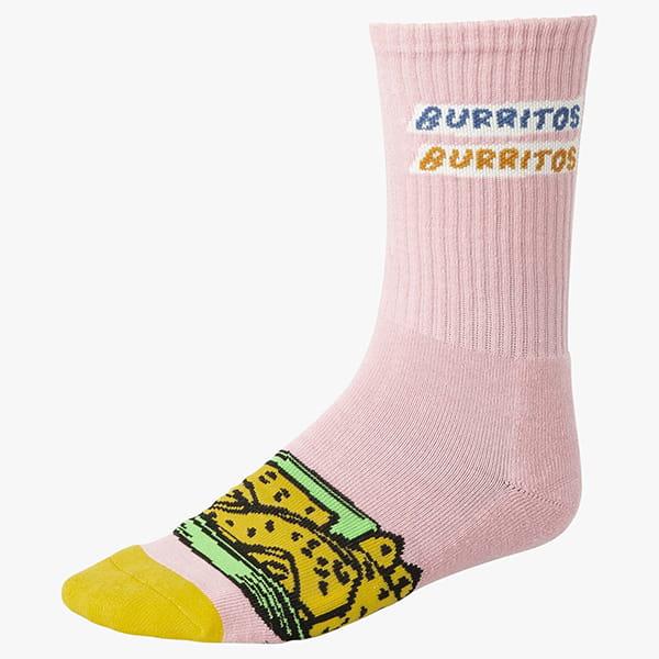 Носки Rvca Hot Fudge Crew Sock Pink
