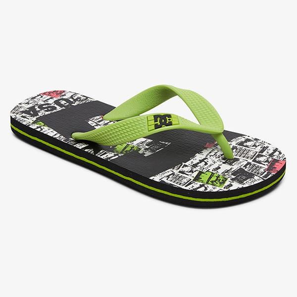 Шлепанцы детский DC Shoes Graffik Spray Black/Lime