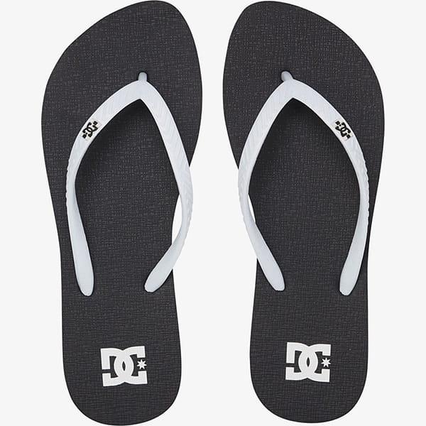 Шлепанцы женские DC Shoes Black/White Spray
