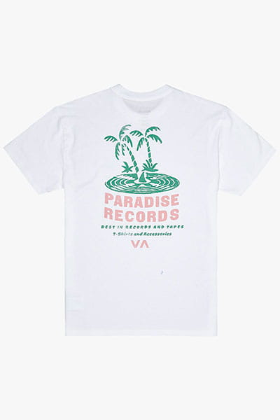 Футболка Rvca Paradise Records White