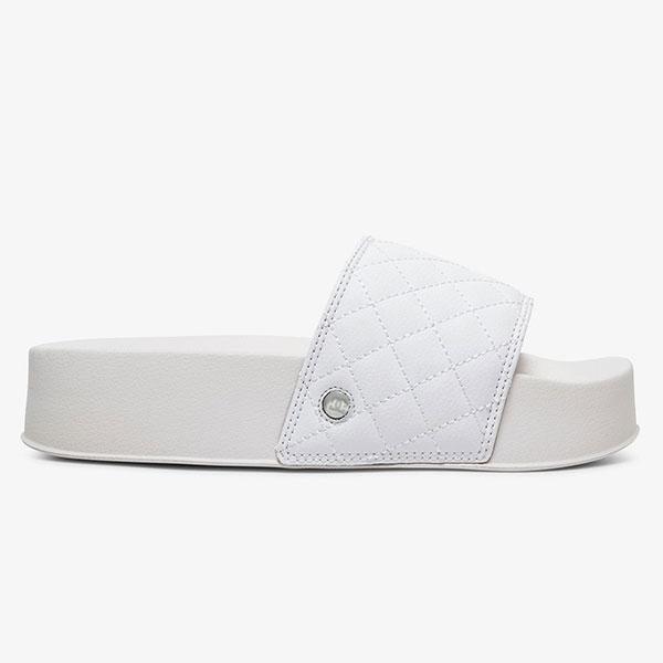 Шлепанцы детские DC Shoes Dcslidepltfrmse J Sndl White/Silver