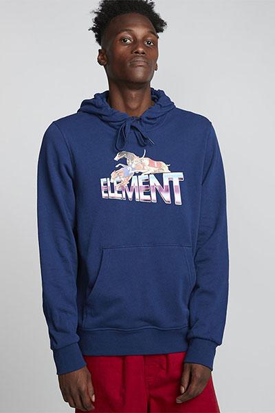 Толстовка Element Tristar Ft Hood Blue Depths