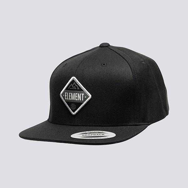 Бейсболка с прямым козырьком Element Trekker Cap Black