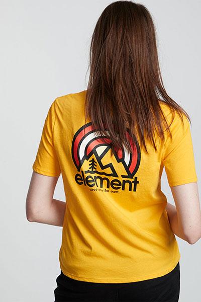 Футболка женская Element Branded Cr Gold