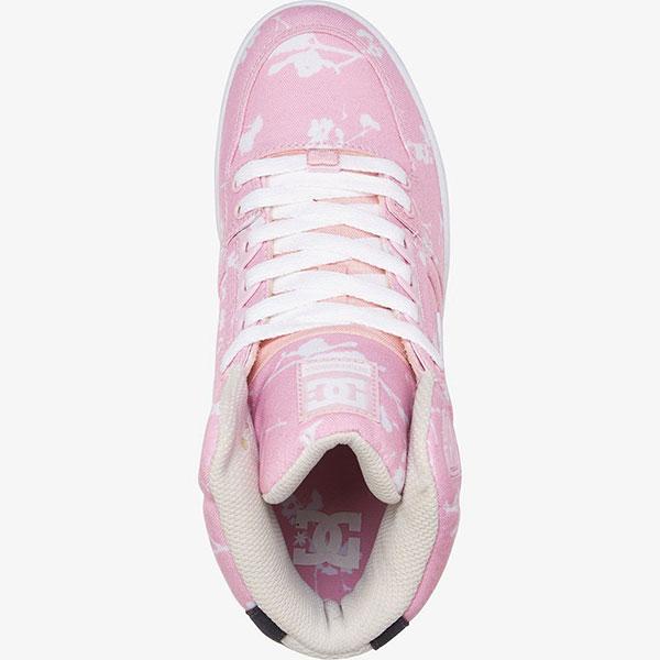 Кеды женские DC Shoes Pure Ht Txse Pink Carnation