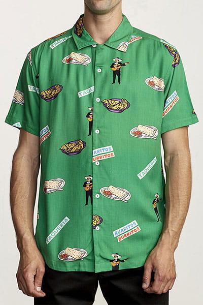 Рубашка Rvca Hot Fudge Vintage Green