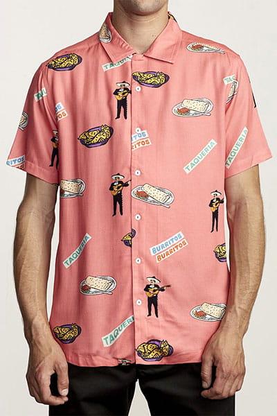 Рубашка Rvca Hot Fudge Pink