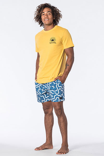 Футболка Rip Curl Rces20 М Golden Road Tee Washed Yellow