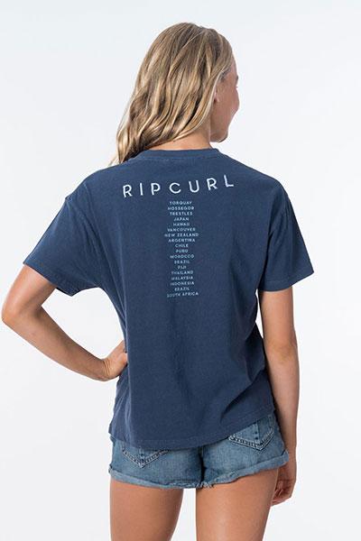 Футболка женская Rip Curl Ripcurl World Tee Dark Blue