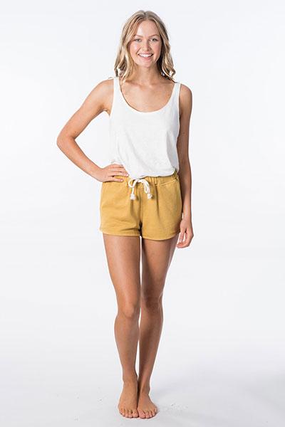 Шорты женские Rip Curl Organic Fleece Short Gold