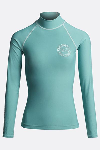 Футболка женская Billabong Для Плавания Logo In Ls Seafoam
