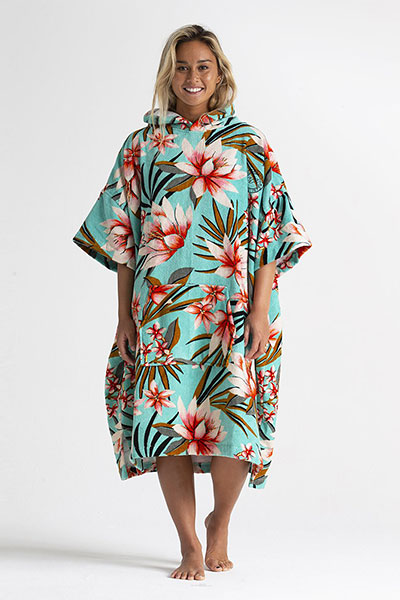 Пончо женское Billabong Wmns Hooded Towel Waterfall